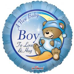 Воздушный шар Мишка Тэдди для мальчика с гелием, круг