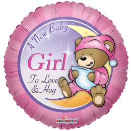 Воздушный шар Мишка Тэдди для девочки с гелием, круг