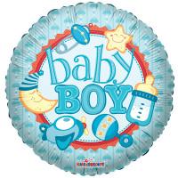 Воздушный шар Baby Boy с гелием, круг