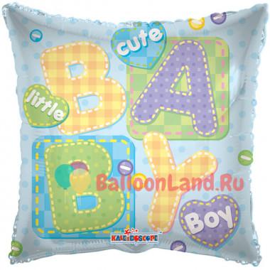 Воздушный шар 'Подушка Little BabyBoy' с гелием, квадрат