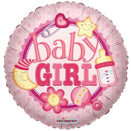 Воздушный шар Baby Girl с гелием, круг