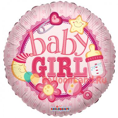 Воздушный шар 'Baby Girl' с гелием, круг