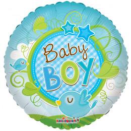 Воздушный шар Птичка Baby Boy с гелием, круг