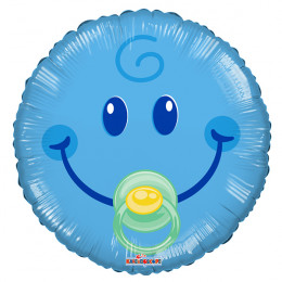 Воздушный шар Смайл-малыш с гелием, круг
