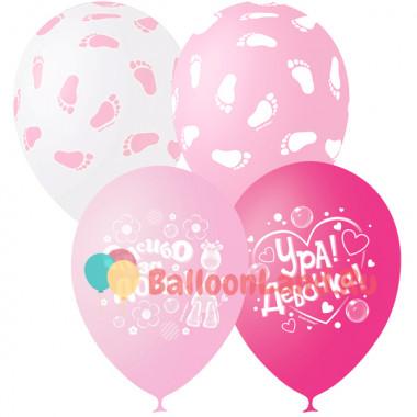 Воздушные шары 'Шары розовые' с гелием