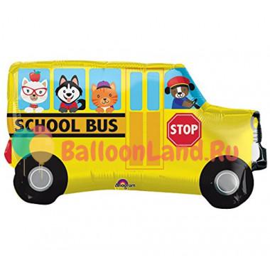 Фигурный шар Желтый школьный автобус