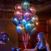 Воздушные шары Хром Разноцветные - дополнительное фото #1