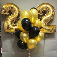 Сет шаров с гелием на День Рождения для него с цифрами