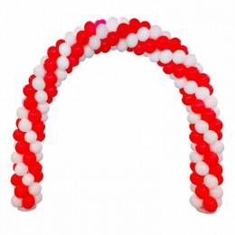 Арка из бело-красных шаров