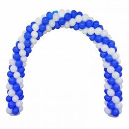 Арка из белых и синих шаров