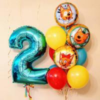 Сет из шариков Три Кота на два года