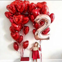 Композиция из шариков любимой доченьке на 2 годика