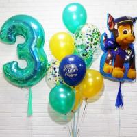 Композиция из воздушных шариков с Гончиком на 3 года