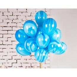 Шары Агат синих оттенков
