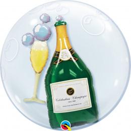 Шарик в шаре Бокал и Бутылка шампанского