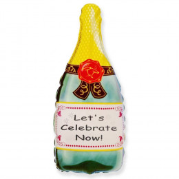 Фигурный шар Бутылка шампанского зелёная #1