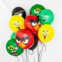 Букет из шариков с героями игры и мультика Angry Birds