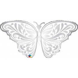 Фигурный шар Серебряная бабочка