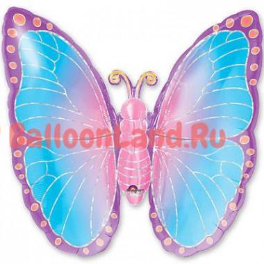 Фигурный шар Бабочка голубая