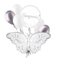 Букет гелиевых шаров Бабочка с вашими поздравлениями
