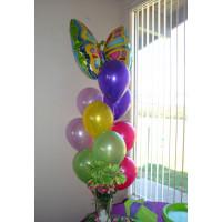 Фонтан ярких шаров с гелием Бабочка