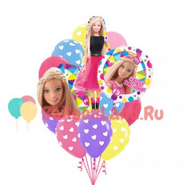 Букет из гелевых шариков кукла Барби на День Рождения