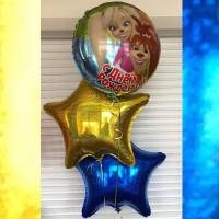 Букет воздушных шаров Барбоскины со звездами