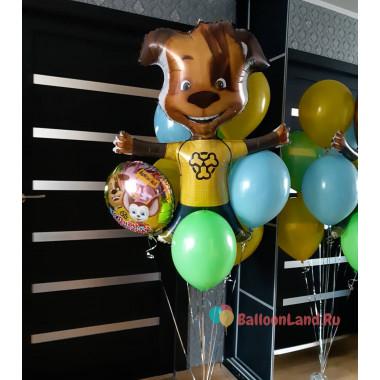 Букет из шариков Дружок на День Рождения