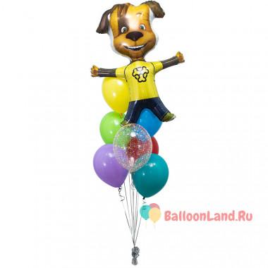 Букет из шариков с героем м/ф Барбоскины Дружком