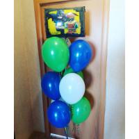 Фонтан из шаров с главными героями Лего Бэтмен