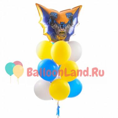 Букет из шариков с гелием с мультперсонажем Бэтменом