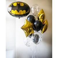 Сет шаров Бэтмен с эмблемой и звёздами