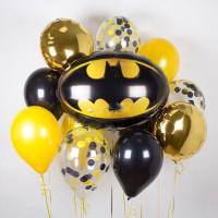 Букет шаров с эмблемой Бэтмена