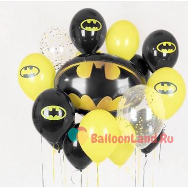 Букет шаров Бэтмен с эмблемами