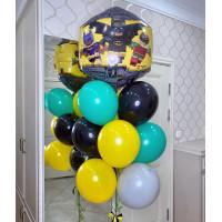 Букет гелевых шаров с героями м/ф Лего Бэтмен