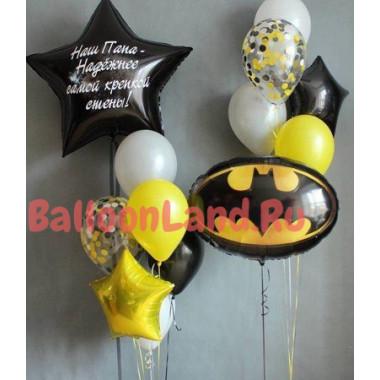 Композиция в стиле Бэтмен на День Рождения с надписью