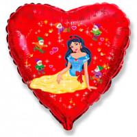 Шар-сердце Белоснежка и семь гномов