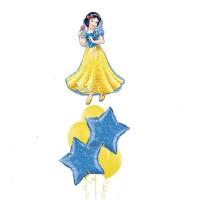Букет из шаров Белоснежка со звездами