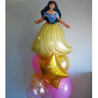 Букет шариков с Принцессой Белоснежкой
