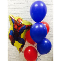 Сет шаров с гелием Человек-паук