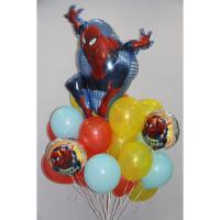 Облако шаров с гелием Человек-паук