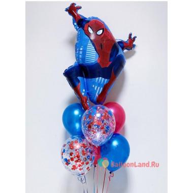 Букет шаров с Человеком-пауком