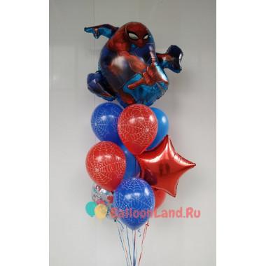 Букет гелиевых шаров с Человеком-пауком
