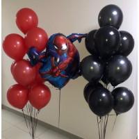 Набор шаров Человек-паук с двумя фонтанами