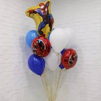 Букет шаров с гелием Человек-паук