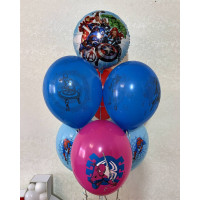 Букет из гелиевых шариков со Мстителями и Человеком-пауком