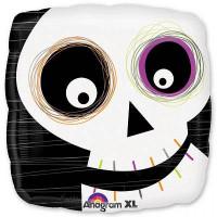 Шар-подушка Скелет с разноцветными глазами