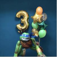 Сет шаров на День Рождения Леонардо с цифрой