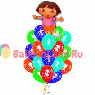 Букет воздушных шариков Даша путешественница