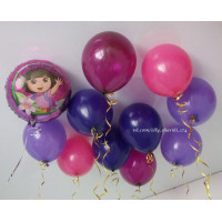 Набор шаров под потолок с Дашей путешественницей
